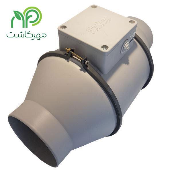 فیلتر کربن 50 سانتی به همراه فن بین کانالی دمنده